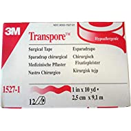 3M Transpore Clear 1-Inch Wide First Aid Tape, 10-Yard Roll (2 Rolls), Model:1527-1