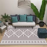 Alfombra alfombras Comedor Sala de Estar Alfombra Gris Alfombra de Dormitorio de patrón de Diamante geométrico Simple Alfombra Comedor Decorar habitacion alfombras 60*160cm