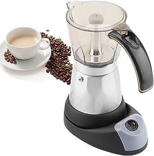 480W Espresso Maker Electric, Mocha Coffee Maker Teapot 300ml 6 Tazas, Cafetera con mango práctico, Diseño moderno, Fácil de limpiar, para viajar a casa
