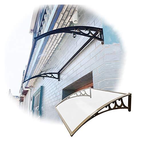 Marquesinapuertaexterior, Cubierta De Policarbonato Sólida Para Patio, Refugio Al Aire Libre De La Nieve De La Lluvia Del Sol Del Jardín, Soporte De Aluminio ( Color : Claro , Size : 60X100CM )