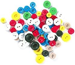 Color Crema//Azul Marino LEDUC Botones Material sint/ético 30 Talla Lin 18