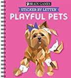 Sticker Puzzles Playful Pets (Brain Games - Sticker by Letter)