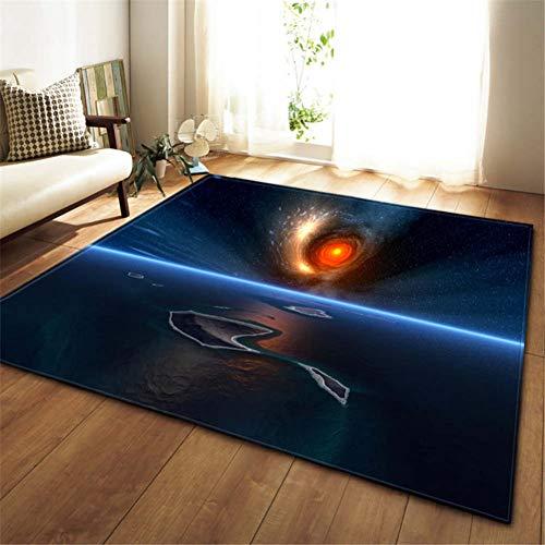 FORNCALO tapijten tapijten matten deurmatten 3D Galaxy ruimte sterren tapijten woonkamer decoratie slaapkamer salon thee tafelkleed mat zacht flanel groot tapijt en tapijt