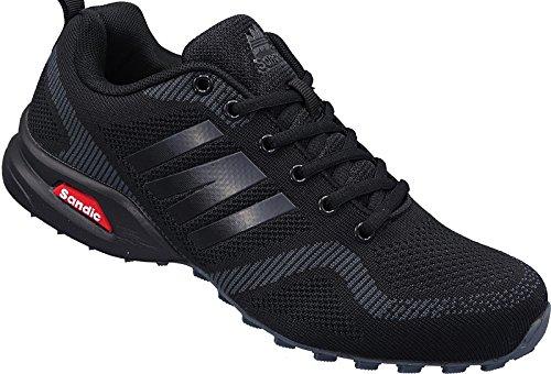 Herren Sportschuhe Sneaker Turnschuhe Schuhe Gr.41-46 Art.-Nr.2941 schwarz-d.grau (44)