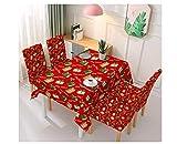 eBoutik - Mantel de Navidad premium – Protector de mesa con poliéster impermeable,...