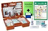 """Erste-Hilfe-Koffer M3 PLUS für Betriebe DIN 13157 EN 13157 von WM-Teamsport - incl. Notfall-Beatmungshilfe, Verbandbuch & Antisept-Hygiene-Spray & Plakat""""Erste Hilfe"""""""