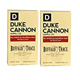 Duke Cannon Supply Co. - Big American Bourbon Soap, Bourbon Oak Barrel (2 Pack of 10 oz) Superior Grade Soap Made With Buffalo Trace Kentucky Straight Bourbon Whiskey - American Buffalo Trace Bourbon