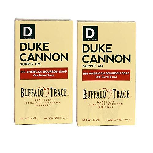 Duke Cannon Bourbon Soap for Men, 10oz Buffalo Trace Kentucky Straight Bourbon Whiskey Bar Soap (2 pack)