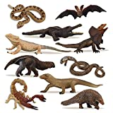 TOYMANY 10PCS Tropical Reptile Animal Figurine Toy...