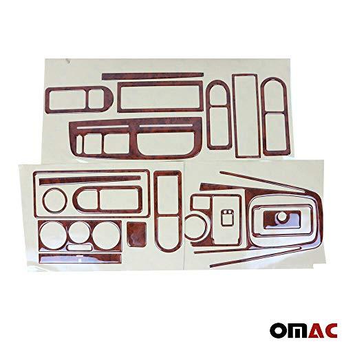 Auto Innendekor Mittelkonsole Armaturendekor Cockpit Dekor für Golf 4 IV 1998-2004 21 teilig Wurzelholz Optik Auto-Innendesign Aufkleber