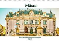 Mâcon - idyllische Stadt mit suedlaendischen Charakter (Wandkalender 2022 DIN A3 quer): Eine franzoesische Stadt am Ufer des Flusses Saône mit seinem bezaubernden historischen Zentrum. (Monatskalender, 14 Seiten )