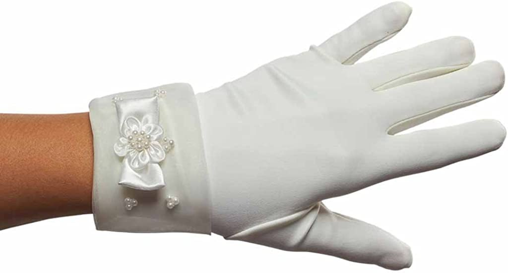 Pearls before Princesses Girls Cuffed Gloves