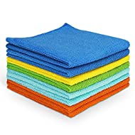 AIDEA Microfiber Cleaning Cloths All-Purpose Softer Highly Absorbent, Lint Free - Streak Free Wash Cloth for House, Kitchen, Car, Window, Gifts(12in.x 12in.)-(Pack-8)