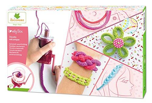 Sycomore CRE5110 Kreatives Kinder-Hobbyset-Mechanisches Stricken-Herstellung von Wollschmuck-DIY-Lovely Box Collector-Ab 7 Jahren-Sycomore-CRE5110, Mehrfarben