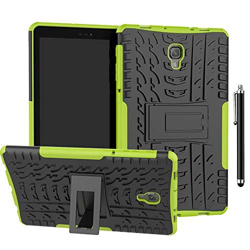 SsHhUu Funda para Galaxy Tab A 10.1 2016 SM-T580/T585, Anti-Choques Carcasa Doble Capa Protectora de Silicón y PC con Soporte para Samsung Galaxy Tab A 10.1 Case 2016 (SM-T580/T585), Verde
