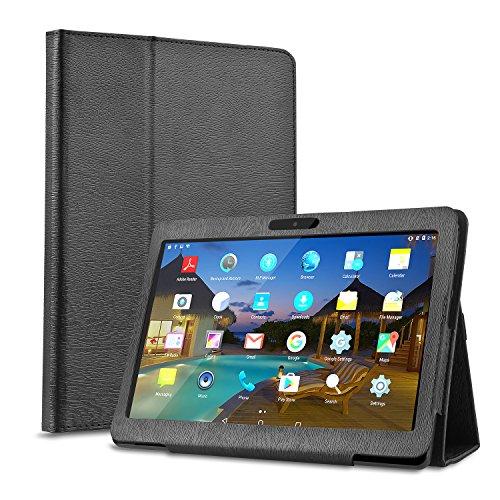 BEISTA 10(10.1) Pulgada Case Carcasa PU Protector Soporte Función Adecuado para LNMBBS Tablet 10.1 Pulgadas,YOTOPT Tablets 10.1 Pulgadas,SUMTAB Tablet 10 Pulgadas,SANNUO Tablet 10 Pulgadas -Negro