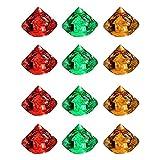 YChoice365 12 Stück LED Eiswürfel Diamantform Party Dekorative LED Eiswürfel Helle Farbe Wechselnde LED Eiswürfel Bunte leuchtende Induktionseislampen