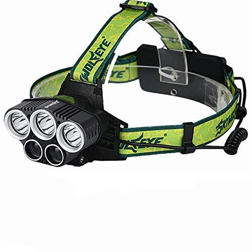 Linterna frontal T6 20000 lúmenes 4 modos LED faro USB recargable cabeza de caza luz 18650 batería (no incluida)
