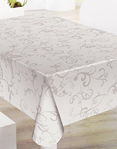 Confección Saymi Mantel de Hule PVC Estampado Ref. Roma Taupe, Medida 140x200
