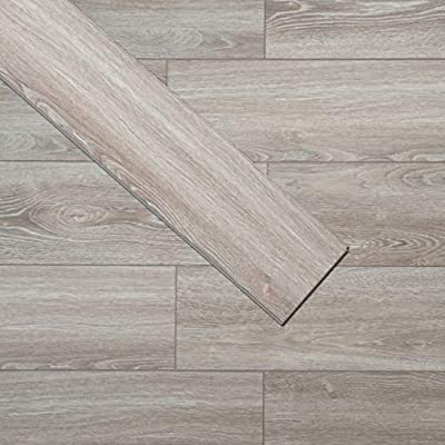 Soulscrafts Luxury Vinyl Plank Flooring LVT Flooring Tile Click Floating Floor Waterproof Foam Back Rigid Core Wood Grain Finish Cantha Oak 48 x 7 Inch (10-Pack, 23.6 sq.ft)