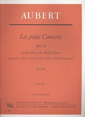 Les petits Concerts opus.16 Band 2 (nr. 4-6): voor 2 oude blokken