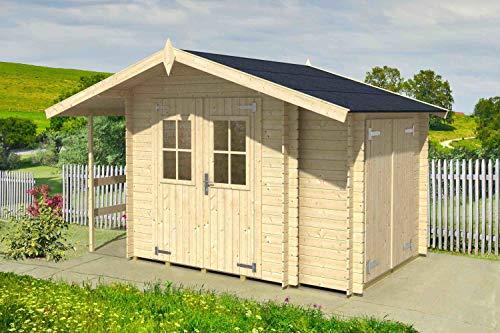 *MARGHERITA–Gartenhaus aus Holz Tanne natur Gartenpro Stahlgerätehaus*