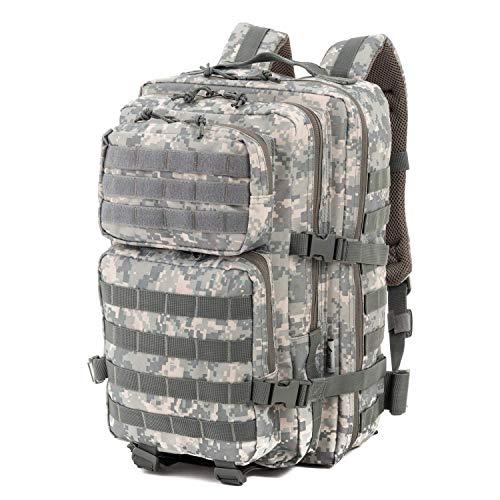 Mochila, diseño de mochila de asalto del ejército de los Estados Unidos, 50 L, verde camuflaje