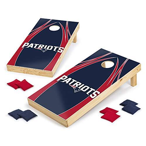 Wild Sports NFL Cornhole Outdoor Game Set, 2' x 4' Foot - Tournament Series, V Logo Design, Multi (XLS1N-NFL118-2)
