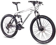 CHRISSON Fully - Bicicleta de montaña de 27,5 pulgadas, con suspensión completa, con 30 marchas Shimano Deore, bicicleta de montaña para hombre y mujer con horquilla de suspensión Rock Shox.