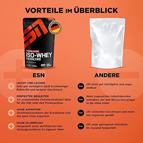 ESN IsoWhey Hardcore, Pro Series, Vanilla, 1er Pack (1 x 1000g Beutel) - 3