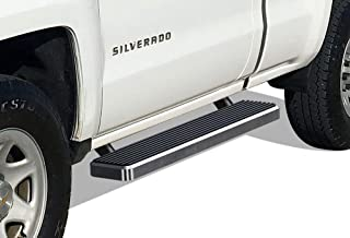 APS iBoard Running Boards 5 inches Custom Fit 1999-2016 Chevy Silverado GMC Sierra Regular Cab (Exclude CK Classic) (Nerf Bars Side Steps Side Bars)