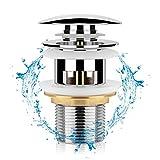Guiseapue Tapones de Desagüe Universal Lavabo Válvula Pop-Up tapón de lavabo Válvula Desagüe con Rebosadero Desagüe Clic-Clack