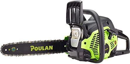 Poulan 14 inches Steel Bar 33CC Gas Chain Saw 2 Cycle | PL3314 (Renewed)