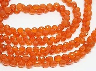"Jewel Beads Natural Beautiful jewellery Orange Fanta Carnelian Faceted Onion Drop Loose Gemstone Craft Beads Strand 8"" 9mmCode:- BB-2356"