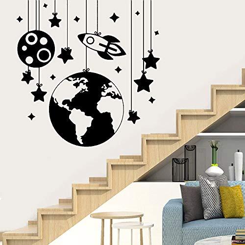Tianpengyuanshuai Nette Sternwandaufkleber Wandaufkleber Hauptdekoration Wohnzimmerdekoration entfernbare Wandaufkleber Wandbild-30x31cm