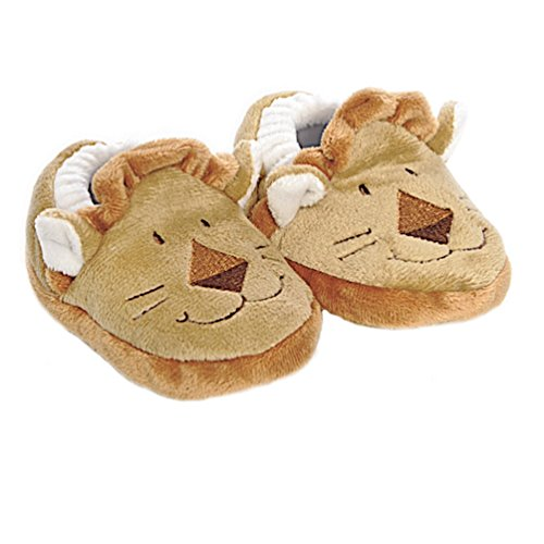 Babysutten Krabbelschuhe, Löwe, braun, ab ca. 6 Monaten