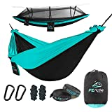 FE Active Outdoor Camping Hammock - Double Hammock with Removable Mosquito Net Portable