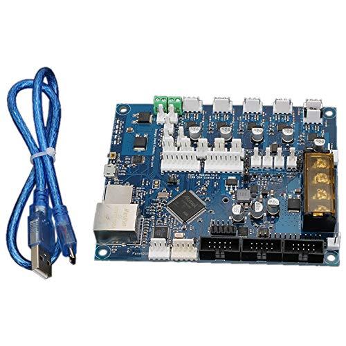 Nrpfell 1 Juego de la VersióN MáS Reciente del Dueto Clonado 2 Placa Base Maestro Advanced de 32 bits para Impresora 3D MáQuina CNC