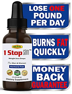 1 Stop Slim Thermogenic Weight Loss Drops for Women & Men, Rapid Fat Burning & IMMEDIATE Stomach Shrinkage! Best Diet Product, with Raspberry Appetite Control Supplement Get Ripped Now