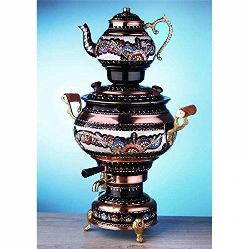 Elektrische Tea Maker Maschine Kupfer Samowar: Wasserkocher & Topf Deko Desing Tee Maker