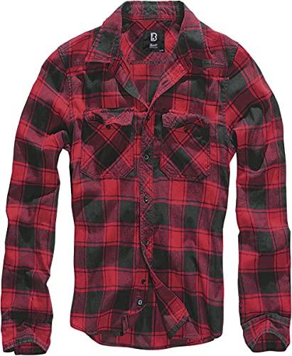 Brandit Check Shirt Herren Baumwoll Hemd 5XL Red-black