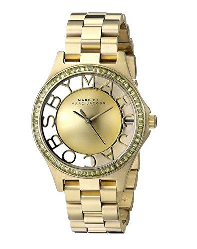 Marc Jacobs - Reloj de Cuarzo para Mujer, Correa de Acero Inoxidable Color Dorado