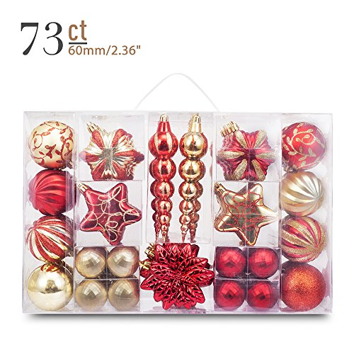 Yoland 24ct Barrel Plating Multicolor Christmas Ball Ornaments 40mm/157#039#039 in Pink