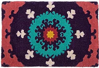 Suzanni 100% Coir Doormat     Fab Habitat (60x90 cm)