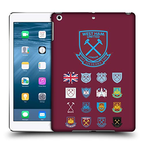 Head Case Designs Officially Licensed West Ham United FC Pattern 2 Crest History Hard Back Case Compatible with Apple iPad Air (2013)
