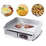 Barbecue de Table Electrique, 3000W Barbecue Plancha Electrique Multifonctions Réversible Electrique avec Contrôle de Température pour BBQ Omelette