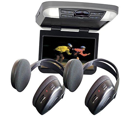 Audiovox AVXMTG10UHD 10' LED Overhead Monitor w/ 2 Wireless IR Headphones
