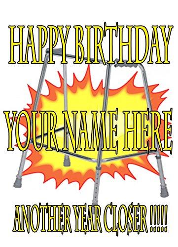 Zimmer Rahmen Witz Gehhilfe cptmi128Happy Birthday A5personalisierbar Grußkarte geschrieben von uns Geschenke für alle 2016von Derbyshire UK