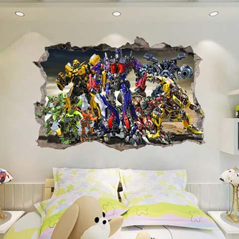 dongwenchao1104 Tianzhu Wandpaste Robot Man Break Wandaufkleber Schlafzimmer Wohnzimmer Kinder 90X60Cm