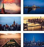 ニューヨーク ポストカード 30枚セット #2 ニューヨーク州ランドマーク、スカイライン、空中ビューの4インチ×6インチのニューヨーク州ポストカードのコレクターエディション。 アメリカ製